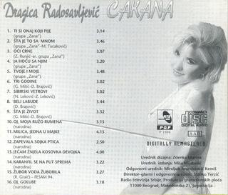 Cakana - Dragica Radosavljevic - Diskografija  R-340520