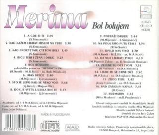 Merima Kurtis Njegomir - Diskografija  R-341422