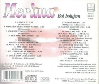 Merima Kurtis Njegomir - Diskografija  R-341427