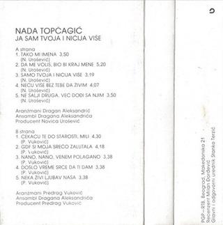 Nada Topcagic - Diskografija R-487811