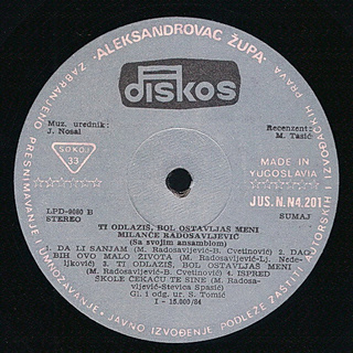 Milance Radosavljevic - Diskografija R-535711