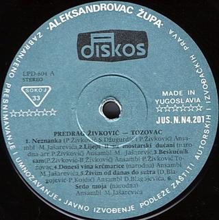 Predrag Zivkovic Tozovac - Diskografija R-545712