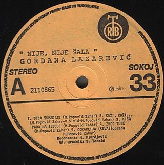 Gordana Lazarevic - Diskografija R-576112