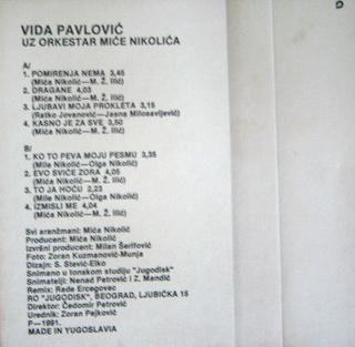 Vida Pavlovic - Diskografija 2 R-593911