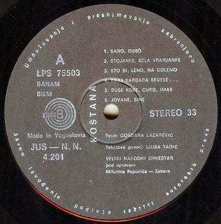 Gordana Lazarevic - Diskografija R-624217