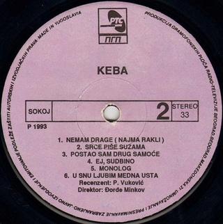 Dragan Kojic Keba - Diskografija R-631011