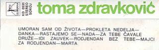 Toma Zdravkovic - Diskografija R-632527