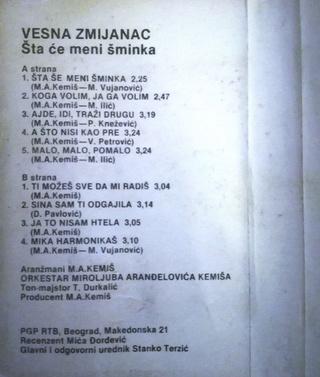 Vesna Zmijanac - Diskografija R-654113