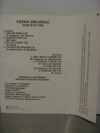 Vesna Zmijanac - Diskografija R-654114