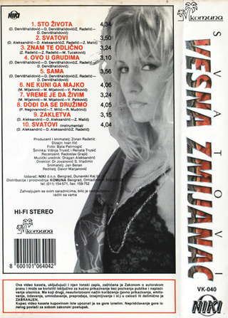 Vesna Zmijanac - Diskografija R-654120