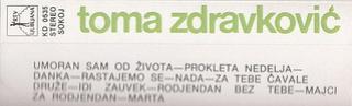 Toma Zdravkovic - Diskografija R-654611