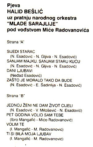 Halid Beslic - Diskografija R-662213