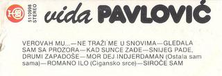Vida Pavlovic - Diskografija 2 R-682415