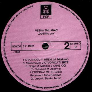 Vesna Zmijanac - Diskografija R-739612