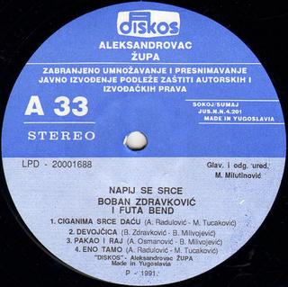 Boban Zdravkovic - Diskografija R-766026