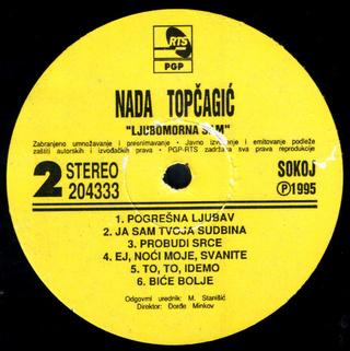 Nada Topcagic - Diskografija R-781914