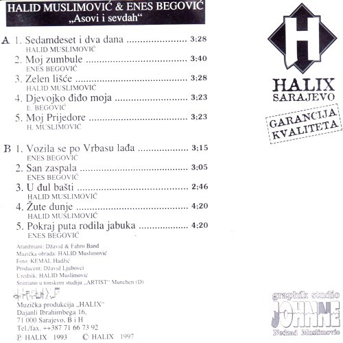 Halid Muslimovic - Diskografija R-807412