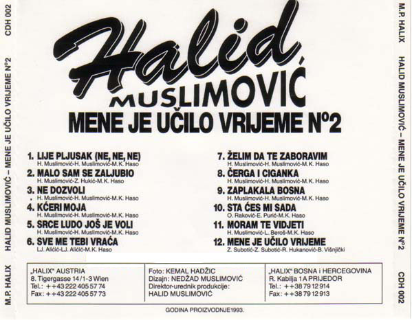 Halid Muslimovic - Diskografija R-838011