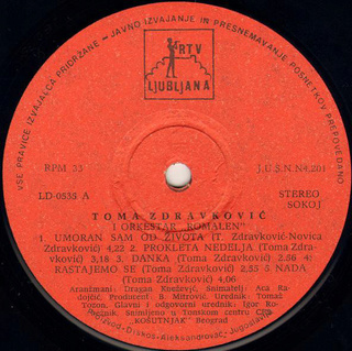 Toma Zdravkovic - Diskografija R-838811