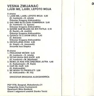 Vesna Zmijanac - Diskografija R-915910