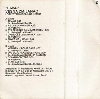 Vesna Zmijanac - Diskografija R-970013