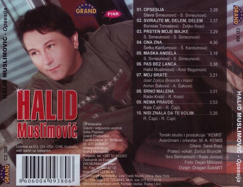Halid Muslimovic - Diskografija Zadnja21