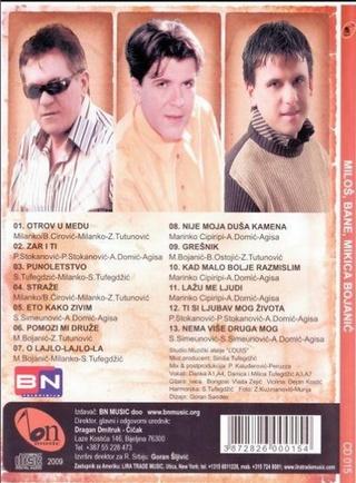 Mikica Bojanic - Diskografija Zadnja36
