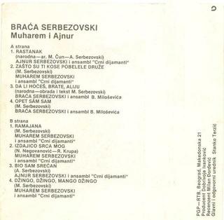 Muharem Serbezovski - Diskografija Zadnja39