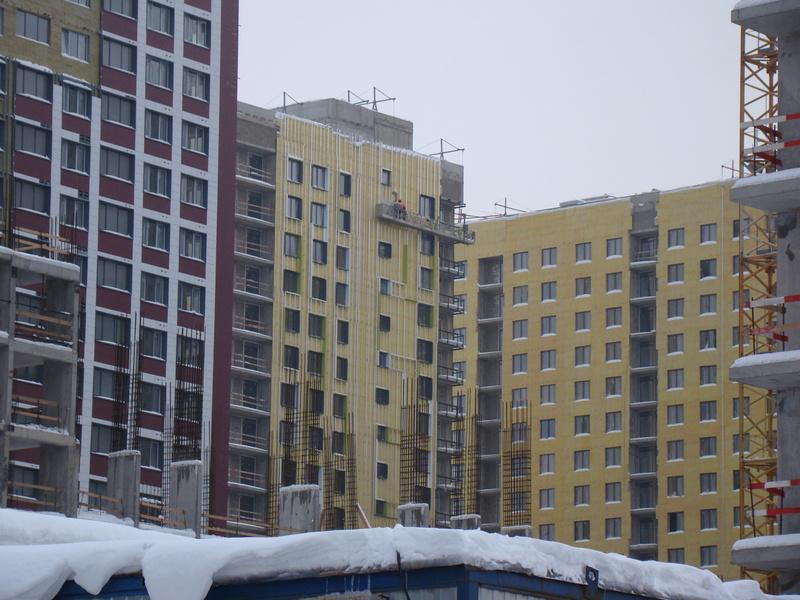 """На ЖК """"Летний сад"""" - начался монтаж фасадных конструкций! Теплозвукоизоляция под ними - лучше, чем у соседнего ЖК """"Город"""" - Страница 3 Dsc00111"""