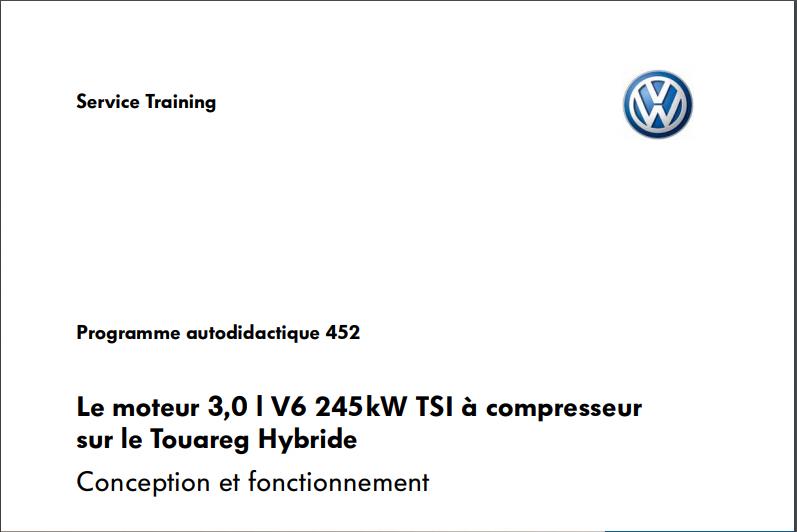 le moteur TSI V6 3,0 l 245kw compr du Touareg Hybrid VW 2010 Captur19