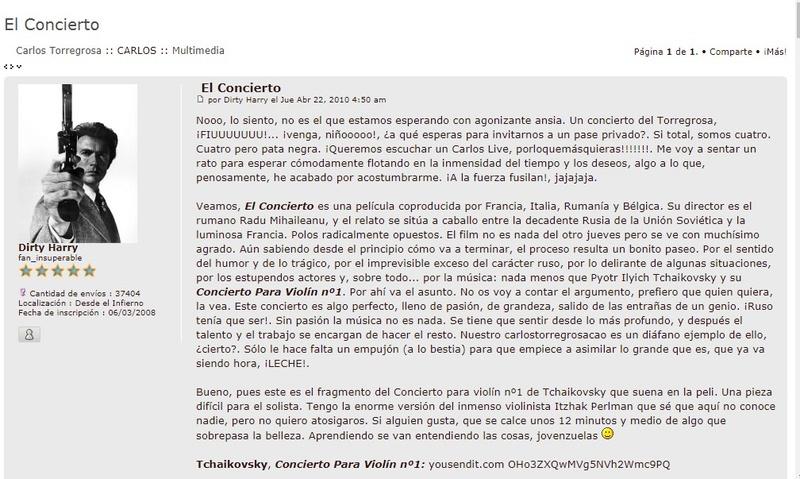 EL CONCIERTO 201010