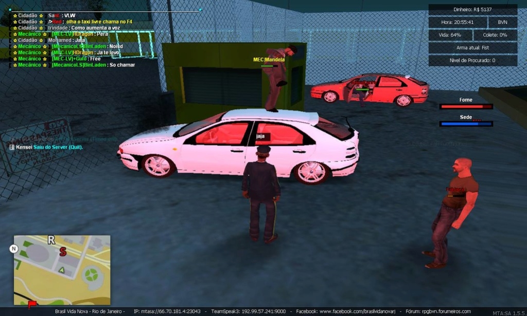 MEC|Mandela fazendo o anti jogo de destruir os carros recentes reparados Np0vrp10