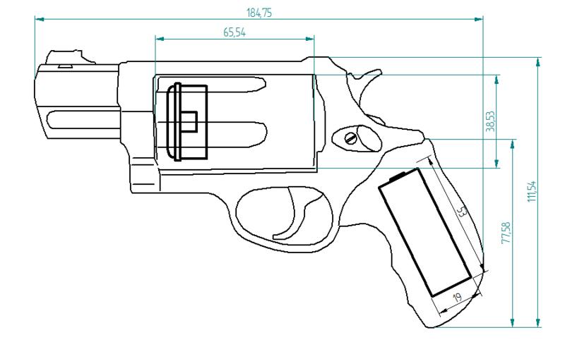 фальшивый пистолет Taurus11
