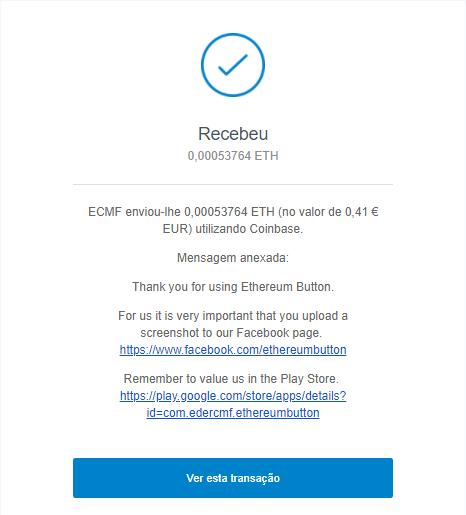 [Provado] App Android: Ethereum Button - ganha Ethereum grátis clicando num botão Captur11