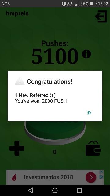 Oportunidade [Provado] App Android: Satoshi Button - ganha Bitcoins grátis clicando num botão Screen10