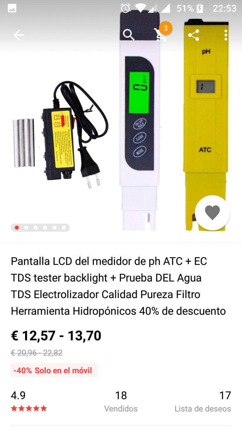 Uso de TDS en distintos tipos de Agua Screen17