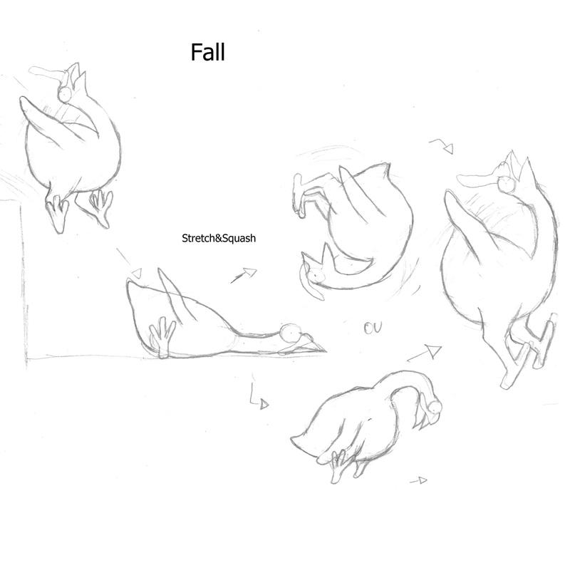 Dessins finaux d'animations de la Dinde. Croqui17