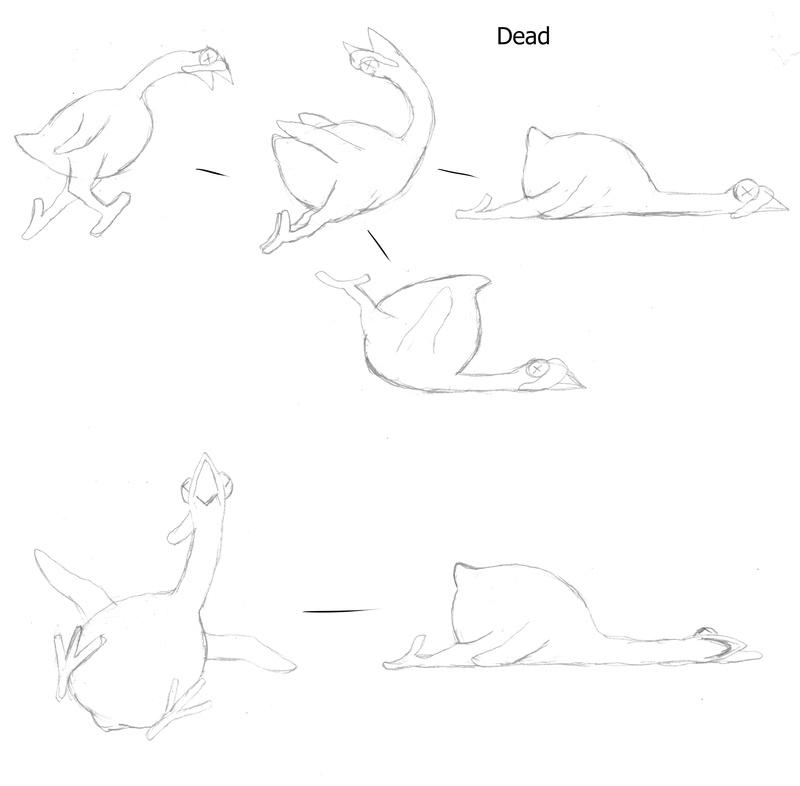 Dessins finaux d'animations de la Dinde. Croqui18