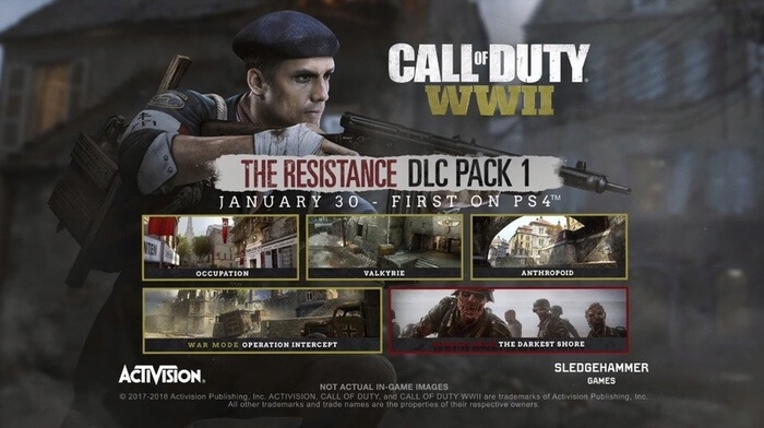 "Call Of Duty WW2 , ""The Resistance"" ,DLC Le-dlc10"