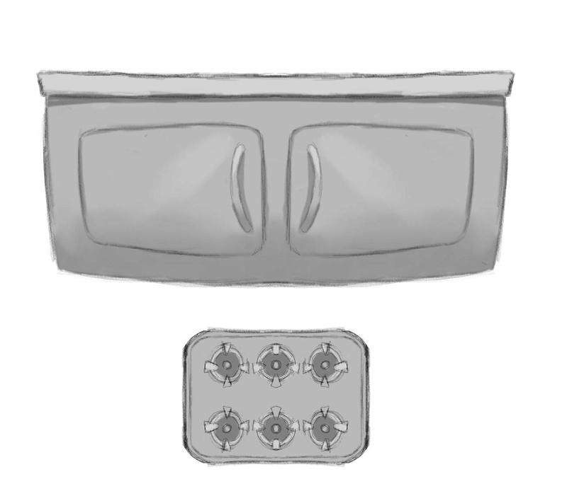 Concept art des accessoires de la cuisine. Compto11