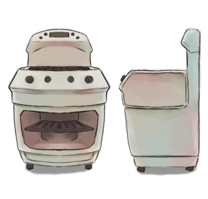 Concept art des accessoires de la cuisine. Fourne10