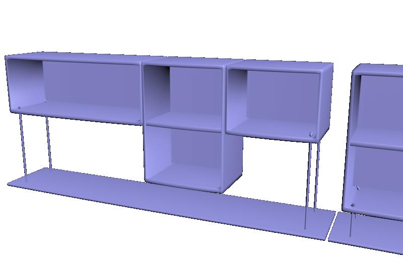 Modélisation étagères + unwrap Compto11