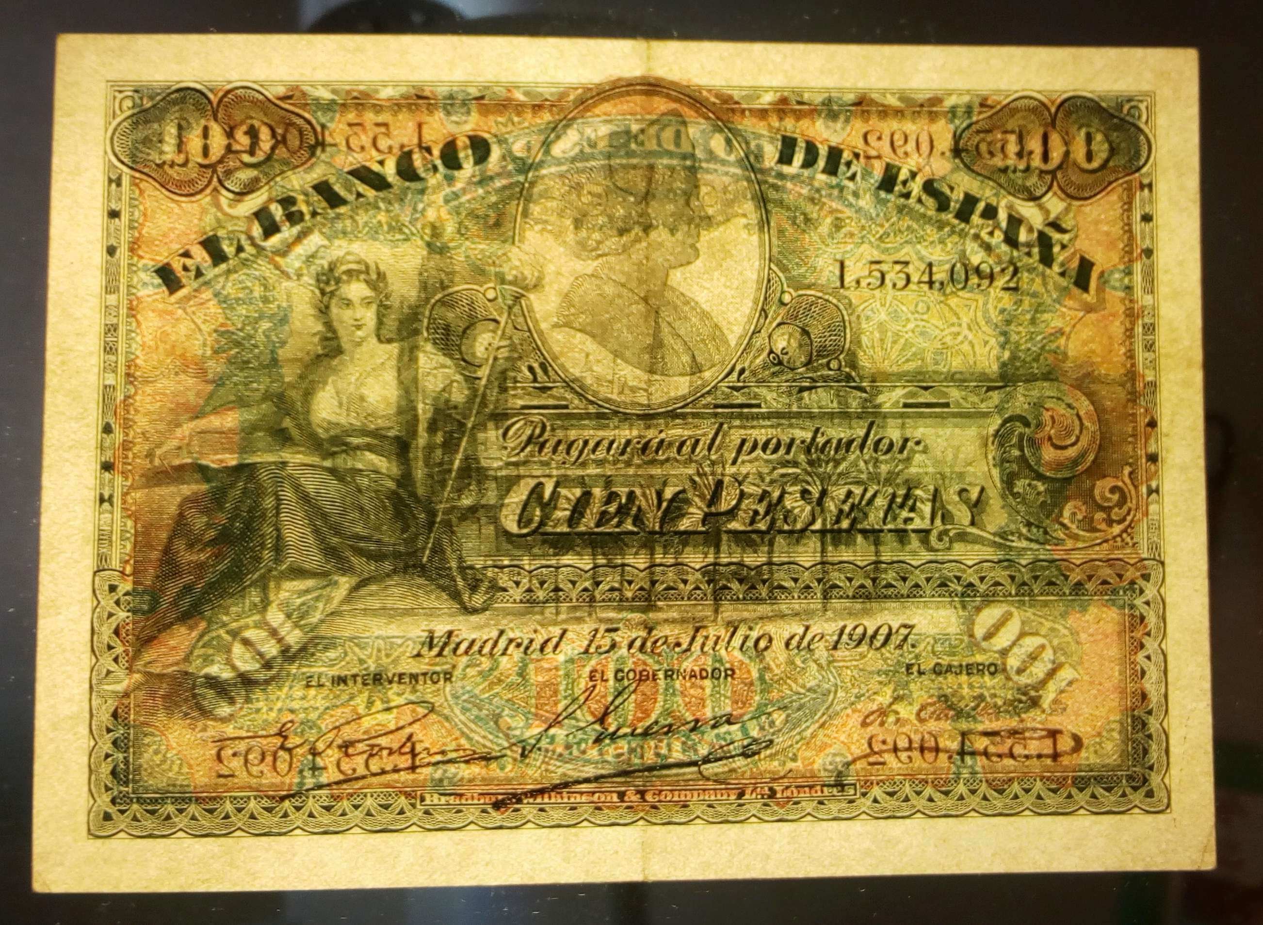 100 Pesetas 1907 (sello seco República) Img_2023