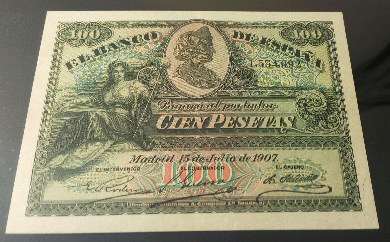 100 Pesetas 1907 (sello seco República) Img_2025