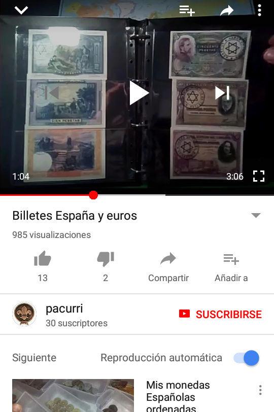 Vídeo billetes Españoles  Screen10