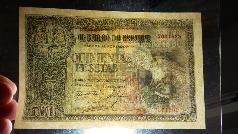500 pesetas 21 de octubre de 1940 - Orgaz T-a10