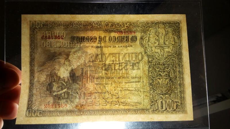 500 pesetas 21 de octubre de 1940 - Orgaz T-b10