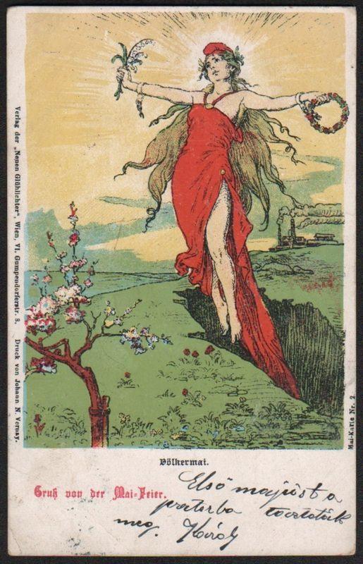 ABC Postkarten 1890-1900 der Zeitschrift Glühlichter Nummer13