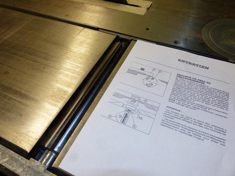 Réglage des fers de dégau Maxi 26  plus 1412