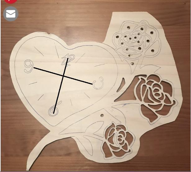 Horloge cœur et roses  Peryag10